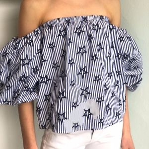 Off the Shoulder Romeo & Juliet Couture Blouse